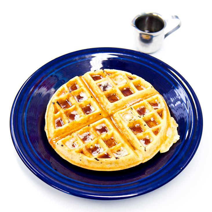 vegetarian breakfast waffles
